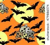 seamless pattern for halloween... | Shutterstock .eps vector #479886574