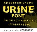 urine font. yellow liquid abc.... | Shutterstock .eps vector #479894155