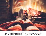 cold fall or winter evening.... | Shutterstock . vector #479897929