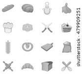 bakery icons set in black... | Shutterstock .eps vector #479909251