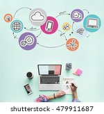 technology connection digital... | Shutterstock . vector #479911687