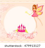 fairy flying above castle  | Shutterstock . vector #479913127