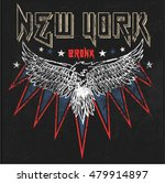 vintage new york eagle graphic... | Shutterstock .eps vector #479914897