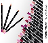 cosmetic pencils. set of... | Shutterstock .eps vector #479916061