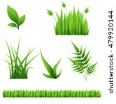 green grass and leaves isolated ... | Shutterstock .eps vector #479920144