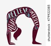 always believe in yourself.... | Shutterstock .eps vector #479922385