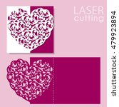 laser cut wedding invitation or ... | Shutterstock .eps vector #479923894