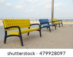 three colorful benches in a... | Shutterstock . vector #479928097