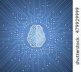 cybernetic brain. pictogram of... | Shutterstock .eps vector #479929999