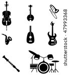 Musical Instrument Icon Set...