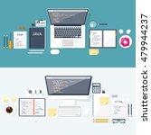 programming coding. flat... | Shutterstock . vector #479944237