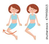 young woman exercise | Shutterstock . vector #479950015