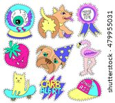 crazy patch badges  pin badges... | Shutterstock .eps vector #479955031
