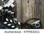 Vintage film camera  clapper...