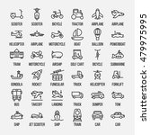 set of transportation icons in... | Shutterstock .eps vector #479975995