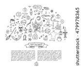 hand drawn doodle happy... | Shutterstock .eps vector #479978365