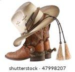 Cowboy Boots  Spurs   Hat