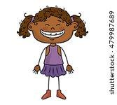 girl kid cartoon smiling | Shutterstock .eps vector #479987689
