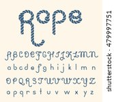 old rope hand drawn alphabet... | Shutterstock .eps vector #479997751