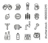 beer related vector icons set   ... | Shutterstock .eps vector #480003295