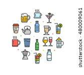 drink round design template...   Shutterstock . vector #480009061