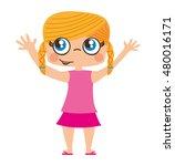 little girl cute character... | Shutterstock .eps vector #480016171