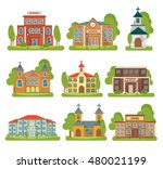 isolated and colored building... | Shutterstock .eps vector #480021199