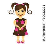 girl little kid cute character... | Shutterstock .eps vector #480022231