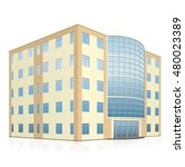 office building with entrance... | Shutterstock .eps vector #480023389