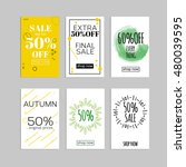social media sale banners and... | Shutterstock .eps vector #480039595