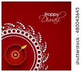 happy diwali illustration ... | Shutterstock .eps vector #480043645