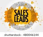 sales leads words cloud ... | Shutterstock .eps vector #480046144