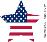 star fill with american flag ... | Shutterstock .eps vector #480047749