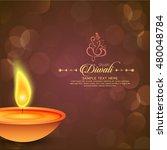 happy diwali illustration ... | Shutterstock .eps vector #480048784