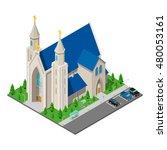isometric christian catholic... | Shutterstock .eps vector #480053161