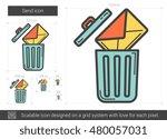 email delete vector line icon... | Shutterstock .eps vector #480057031