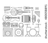 music  vector outline... | Shutterstock .eps vector #480058891