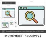 browse vector line icon... | Shutterstock .eps vector #480059911