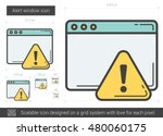 alert window vector line icon... | Shutterstock .eps vector #480060175