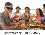 group of friends hanging out... | Shutterstock . vector #480063517