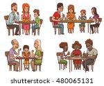 vector set of cartoon images of ... | Shutterstock .eps vector #480065131