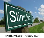 stimulus road sign | Shutterstock . vector #48007162