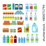 big set of store products in... | Shutterstock . vector #480071794