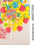 candies with different shapes... | Shutterstock . vector #480072505