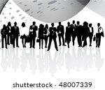 illustration of business people ... | Shutterstock .eps vector #48007339