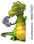 fun crocodile   3d illustration | Shutterstock . vector #480075607