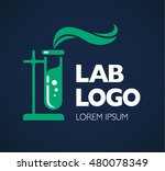 chemistry or chemical lab logo... | Shutterstock .eps vector #480078349