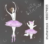 Cute Romantic Ballerina. Littl...