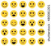set of emoticons. set of emoji. ... | Shutterstock . vector #480081301