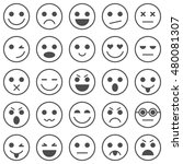 set of emoticons. set of emoji. ... | Shutterstock . vector #480081307